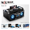 2.1 usb subwoofer computer speaker W2 wood boombox speaker with USB SD FM RADIO Bluetooth