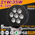 9-32V 35W Led Work Lamp Round Offroad lights For Automobiles Motorcycles