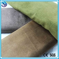 polyester spandex suede plain dyed knitting two way strenth fabric for garments