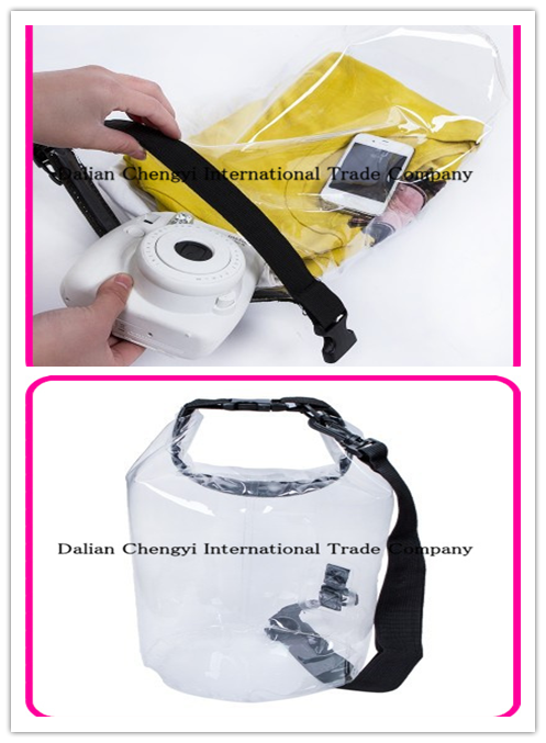 Outdoor Sport Transparent Waterproof Swimming PVC Dry Bag