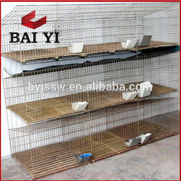 Hot dipped galvanized commercial rabbit cage