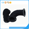 Flexible silicone molded rubber bellow