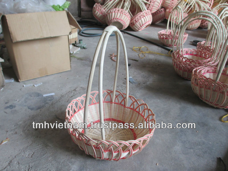 rattan flowers basket