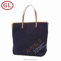 GuangDong OEM manufacturer custom cotton shopping bag, fashion beach bag, canvas tote bag
