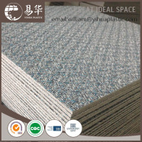 wave backing loose lay vinyl flooring,woven surface loose lay tile,diamond backing loose lay plank