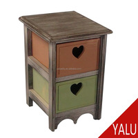European Cheap home storage cabinet with heart style drawer H-16018