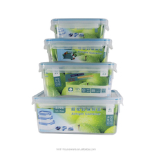 pp wholesale 0.55L square food grade airtight plastic food storage container with clip and lock