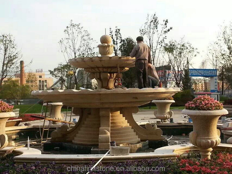 China New design marble stone garden water fountain for Indoor outdoor Decoration