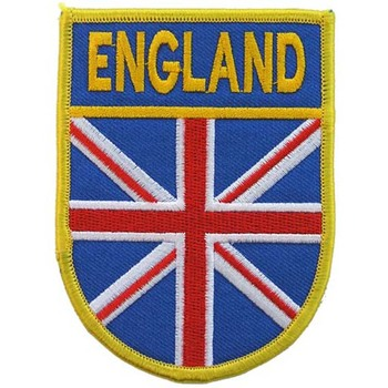 England flag patch with merrow border and heat seal backing