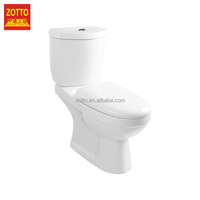 Factory professional round p-trap/s-trap washdown wc two piece price sanitary ware with high quality