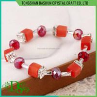 Simple red couple bracelets daily wear crystal bracelet for women beads china bracelet