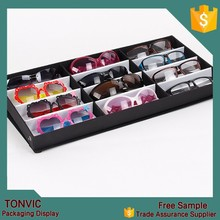 12pcs nylon sunglass display box case for 2015 custom design
