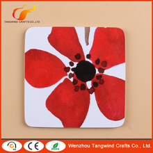 Top grade excellent quality good offer red flower drink cup cork coaster