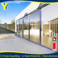 Shanghai YY Construction supplier high quality frame tempered glass 3 panel sliding shower door