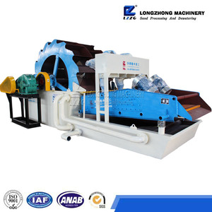 High technology fine sand screw sand washer with large capacity for sand dewatering from China plant