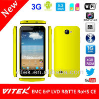 3G 1.2Ghz Quad Core 8M Camera GPS Bluetooth 5.3 inch android Mobile Phone