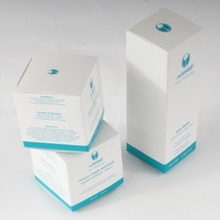 alibaba custom recyclable corrugated paper washing powder box foldable color cosmetic makeup powder paper packaging box