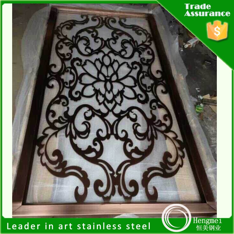 steel building stainless steel cheap folding screen laser cut metal panel from China