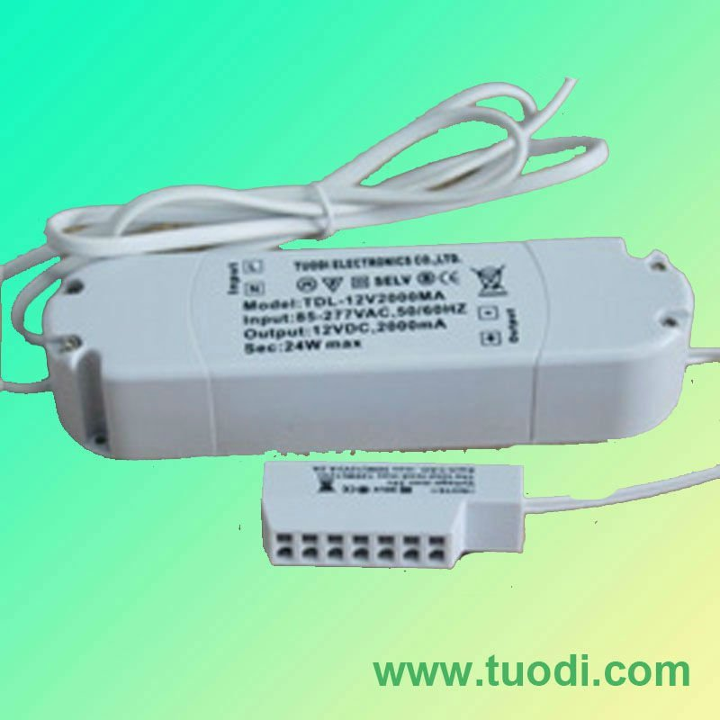 Wholesale-Hot sale-TDL-12V 2000MA 5050 smd led strip power supply
