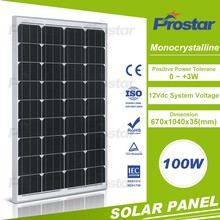 monocrystalline material 100w sunlight power solar panels
