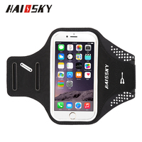 "HAISSKY 5.0"" Sport Running ArmBand Case Wallet Cover For iPhone 6/6S/7/8/x Samsung Galaxy S7 Edge"