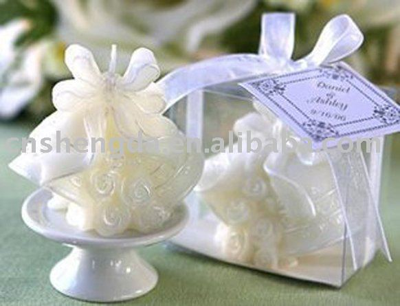 Wedding bell candle