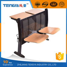 Top Sale Commercial Folding Wooden Lecture Hall Chair for Adult Classroom