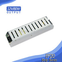 Slim Power Supply 80W 12V 7A AC to DC Switch Transforfor LED Strip CCTV 110V/220V