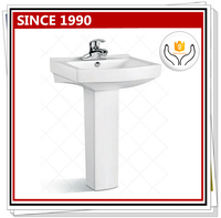 3019 The newest hand wash basin price China supplier antique pedestal sink