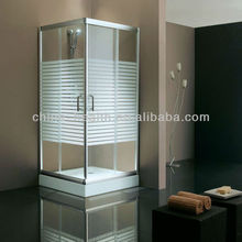 Tempered glass cheap indoor portable glass office shower
