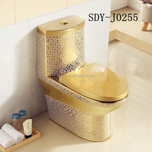 ceramic bathroom design wc color toilet bowl gold plated portable toilet