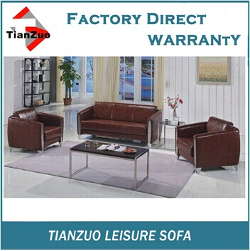 TZ-B96 stainless steel base round corner leisure cowhide leather sectional sofa