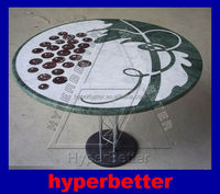 Natural marble mosaic table top design