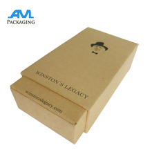 Small High Quality Recycled Brown Kraft Paper Food Box Paper Box