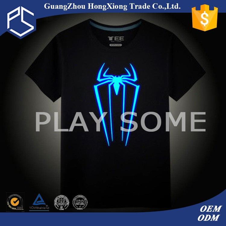 High quality oem led equalizer t shirt