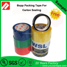 Free sample !! Colorful Waterproof BOPP adhesive tape based on natural solvent gule