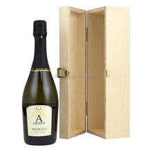 Custom highest quality cheap one bottle hinged wooden wine box
