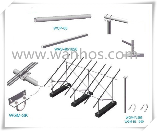 solar mounting hardware solar galvanized steel structure