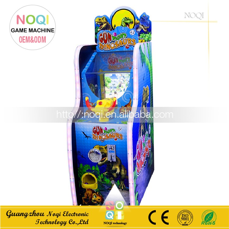 NQM-005 New arrival toy capsule vending machine video shooting game Shooting Dinosaur