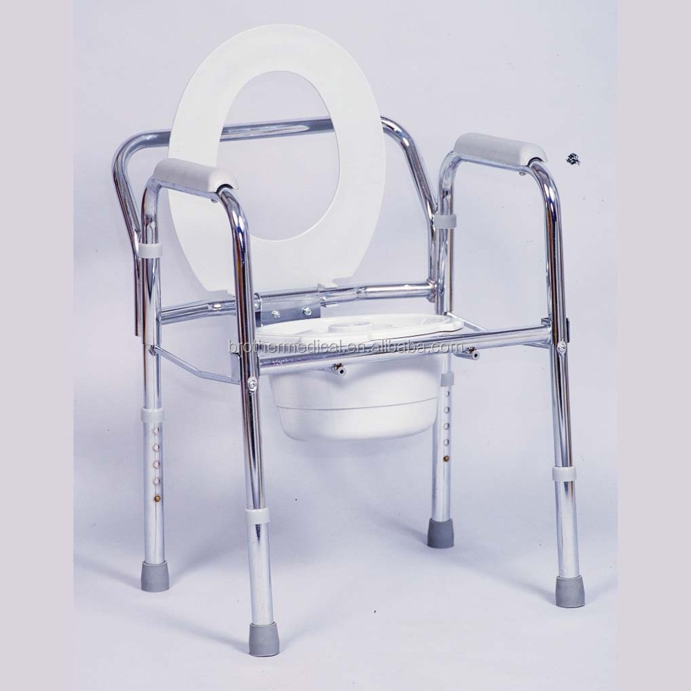 telescopic disabled toilet chair factory with Stainless steel frame,--samples free in 7days