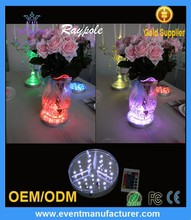 High Quality LED Centerpieces Light Base For Glass Vase Decoration