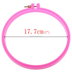 High Quality Embroidery Supplies Fuchsia Plastic Punch Embroidering Hoop