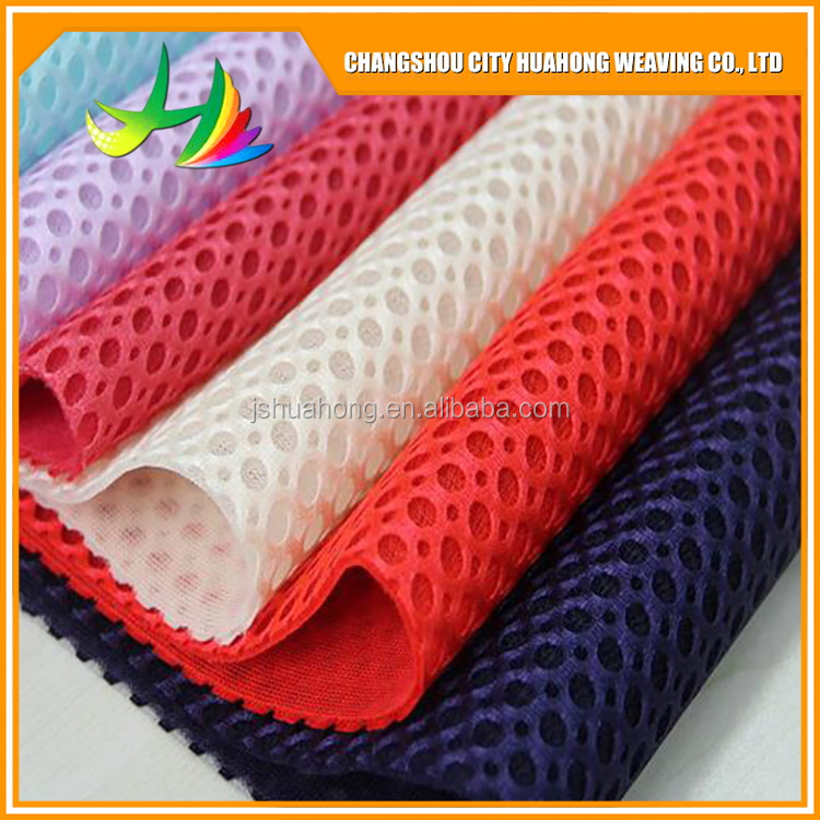 3D 100% polyester mesh fabric, striped mesh fabric