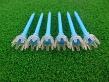 Bue Plastic golf tee with rubber crown top