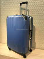 abs hard travel trolley luggage aluminum frame luggage
