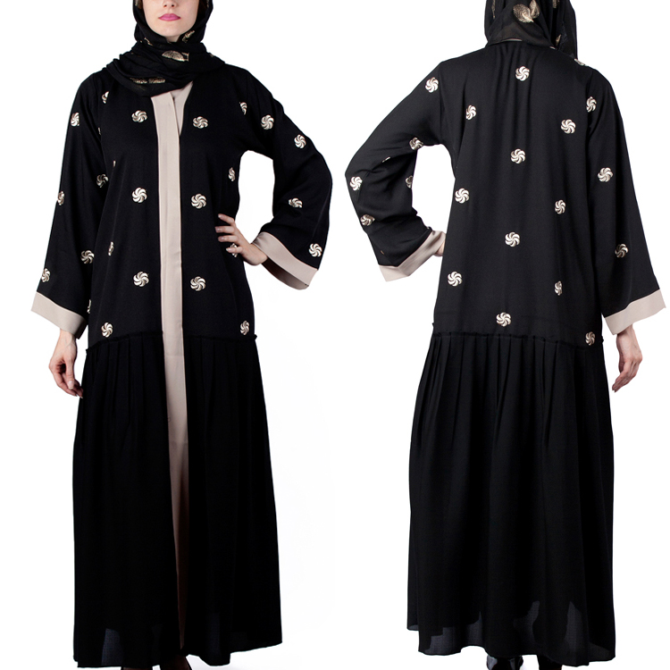 2017 Islamic Wholesale Abaya Front Open Abaya Online Shopping