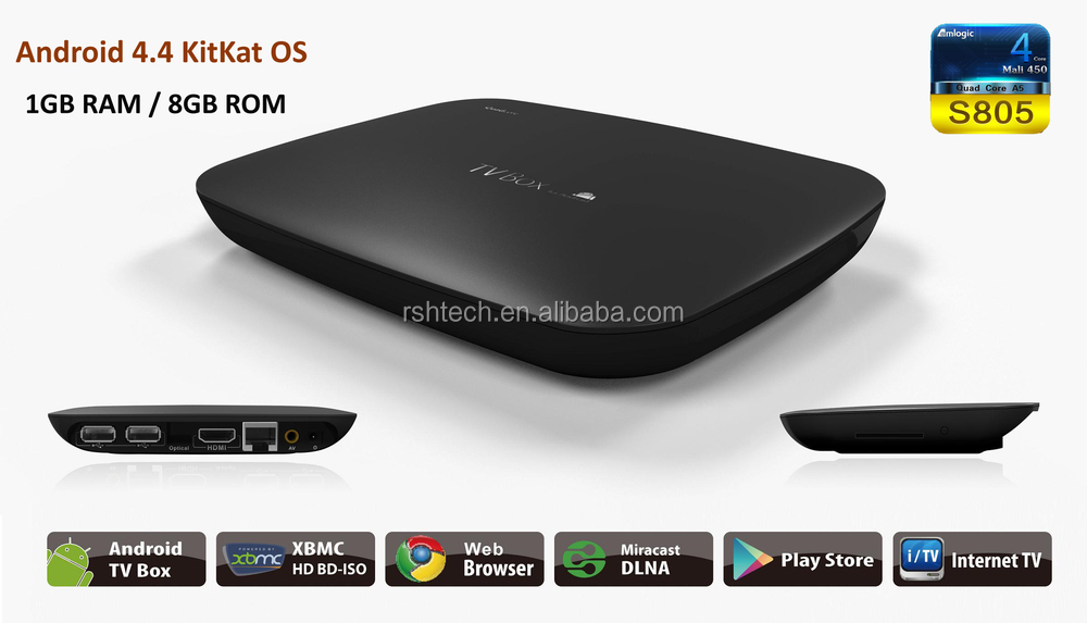 2015 new product meida player S805 A5 Addons preinstalled digital tv converter set top box online tv box