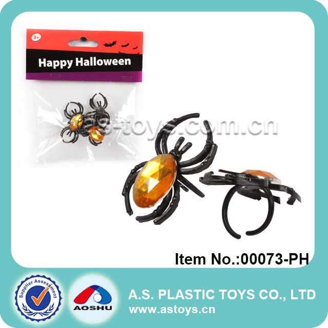Halloween children big spider rings jewelry toy