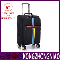 customized material fabric luggage best trolley travel suitcase for 20 inch