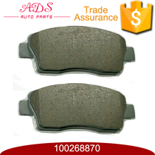 100268870 AKOK factory wholesale advanced brake pads for MG350 auto spares parts